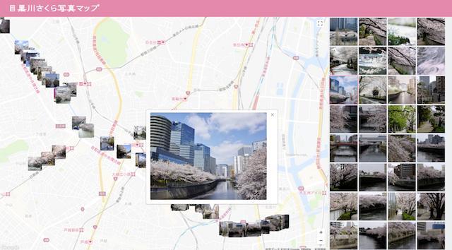 目黒川さくら写真マップ