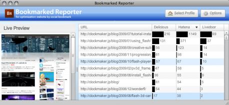 Bookmarked Reporterで被ブクマ数を比較